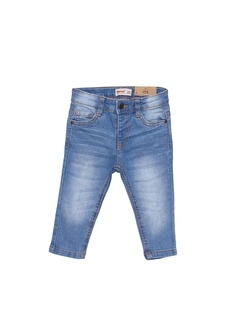 Silversun Kids Erkek Bebek Koyu Denim Cepli Kot Pantolon Pc 115305